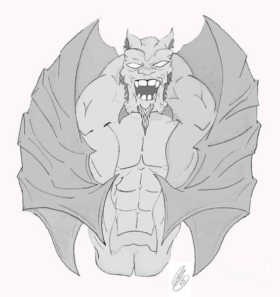 Gargoyle Digital Art - Gargoyle by Minding My Visions by Adri and Ray