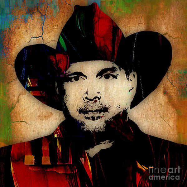 Brook Mixed Media - Garth Brooks Collection by Marvin Blaine