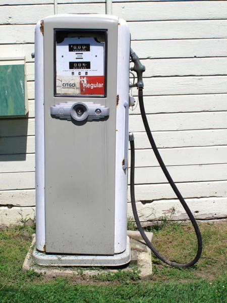 Photograph - Gas Pump by Frank Romeo