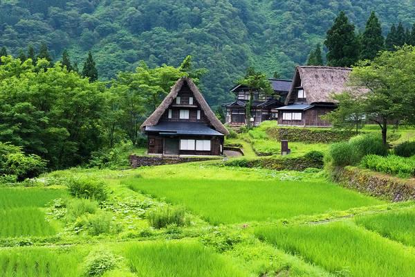 Wall Art - Photograph - Gassho-zukuri Houses In The Mountain by Keren Su