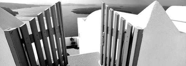 Wall Art - Photograph - Gate At The Terrace Of A House by Panoramic Images