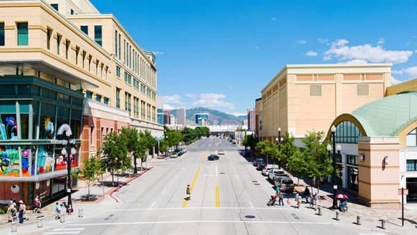 Shopping Districts Wall Art - Photograph - Gateway Shopping Center, Downtown Salt by Panoramic Images
