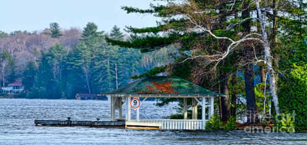 Photograph - Gazebo On Lake by Les Palenik
