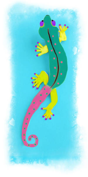 Mixed Media - Gecko Two by Deborah Boyd