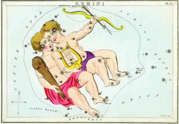 Mythological Photograph - Gemini Constellation by Royal Astronomical Society/science Photo Library