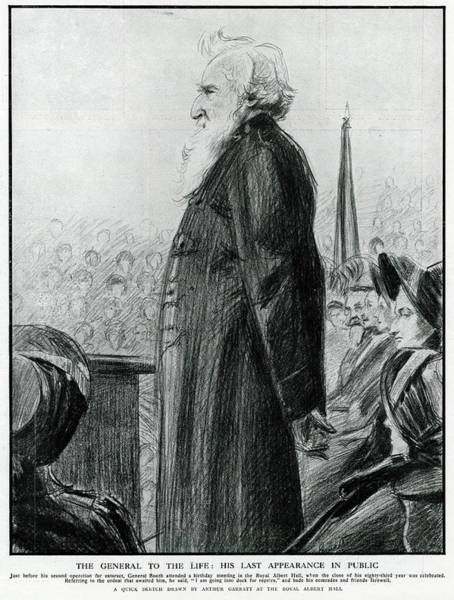 Wall Art - Drawing - General William Booth  Founder by Mary Evans Picture Library