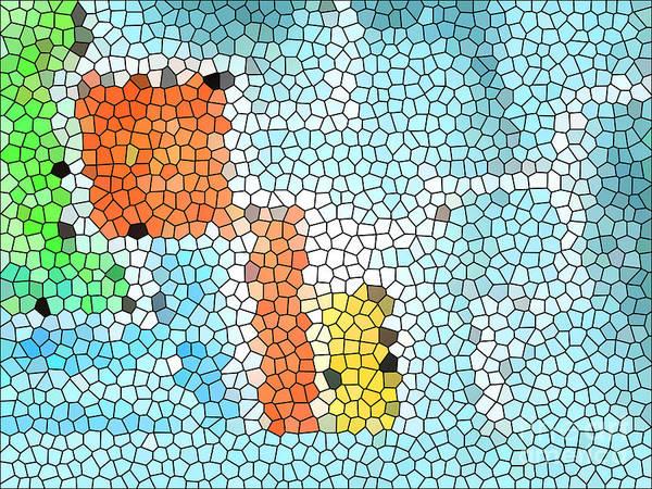 De Stijl Painting - Geometric Abstract by Pixel Chimp