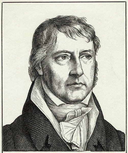 Wall Art - Drawing - Georg Wilhelm Friedrich Hegel  German by Mary Evans Picture Library