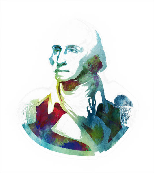 Wall Art - Painting - George Washington by Celestial Images