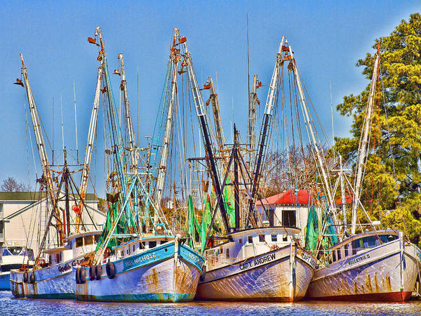Photograph - Georgetown Shrimpers by Bill Barber