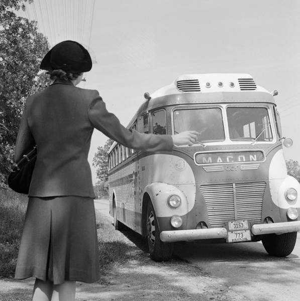 Photograph - Georgia Bus Travel, 1943 by Granger