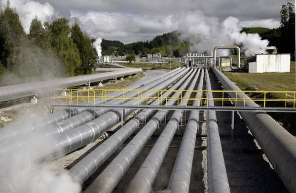 Wall Art - Photograph - Geothermal Power Station Piping by Steve Allen/science Photo Library