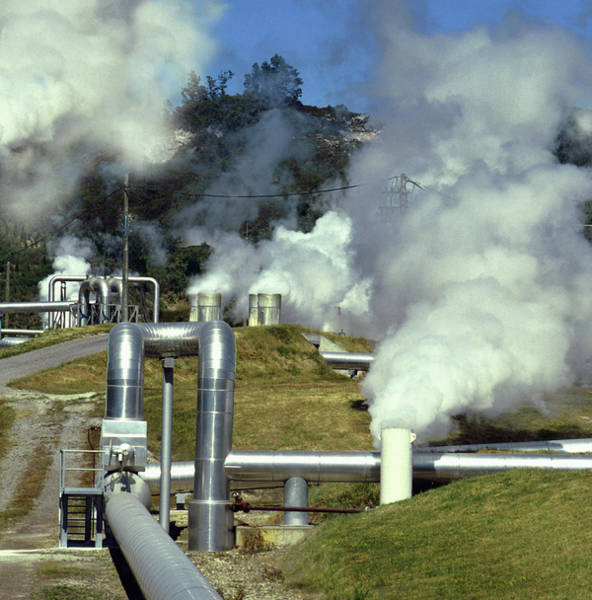 Wall Art - Photograph - Geothermal Power by Steve Allen/science Photo Library