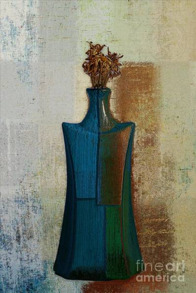 Blue Vase Photograph - Geovase - 57jm01 by Variance Collections
