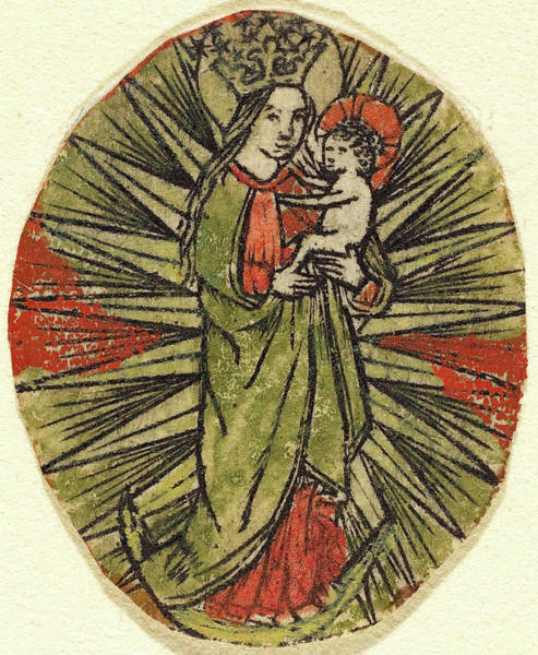 Wall Art - Drawing - German 15th Century, Madonna And Child by Quint Lox