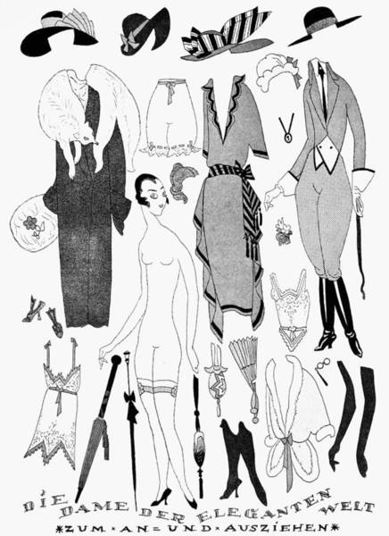 High Heels Drawing - German Fashion, 1921 by Granger