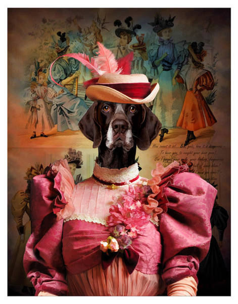 German Pointer Painting - German Short Haired Pointer Art Canvas Print by Sandra Sij