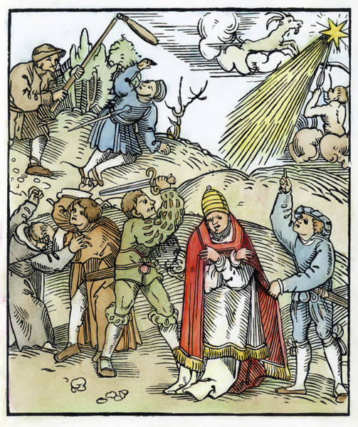 Wall Art - Painting - Germany Peasants War by Granger