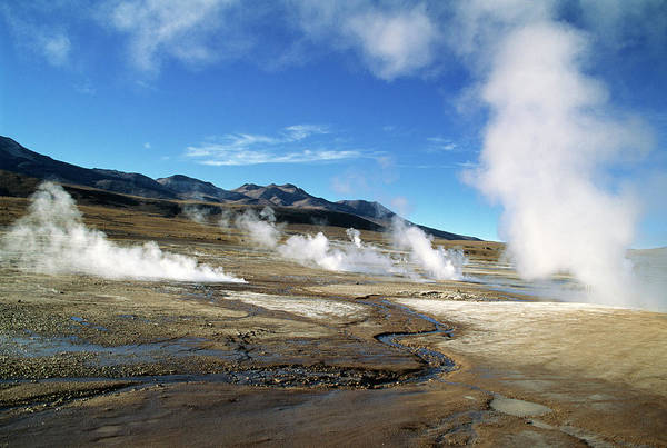 Geothermal Photograph - Geyser Field by Zephyr/science Photo Library