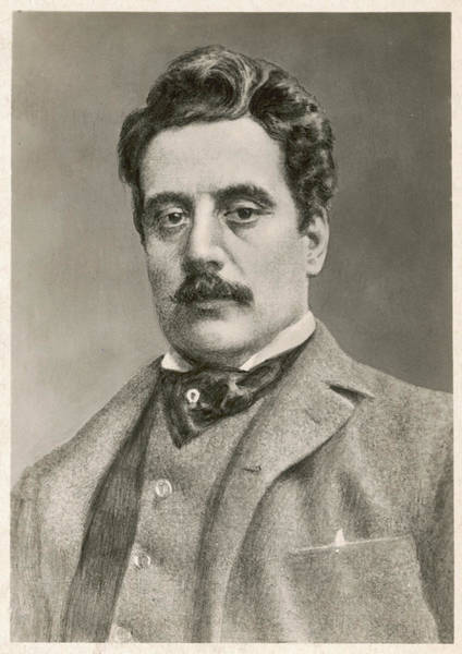 1924 Drawing - Giacomo Puccini  Italian Opera Composer by Mary Evans Picture Library