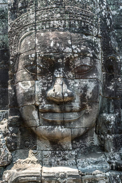 Giant Buddha Photograph - Giant Buddha Face Inside Bayon Temple - Angkor  Wat -cambodia by Matteo Colombo