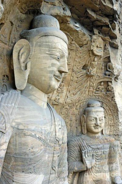 Wall Art - Photograph - Giant Buddha Statues In Yungang Shiku Caves by Sami Sarkis