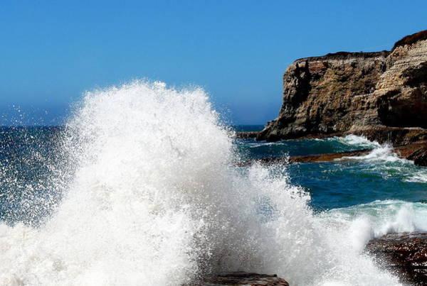 Photograph - Giant Crashing Wave by Jeff Lowe