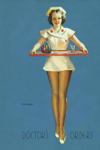 Sick Photograph - Gil Elvgren's Pin-up Girl by Underwood Archives