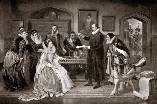 Gilbert Shows Electricity To Elizabeth I Art Print by Science Photo Library