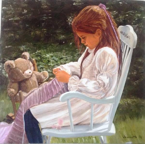 Painting - Girl In Rocker by Jeannette Tramontano