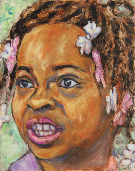 Girl With Dread Locks Art Print