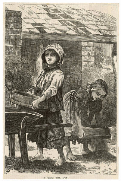 Dust Drawing - Girls Working In The Brickyards  - by  Illustrated London News Ltd/Mar