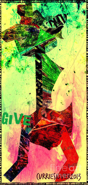 Give Art Print by Currie Silver