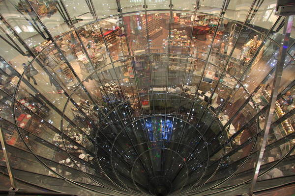 Galeries Lafayette Photograph - Glass Spiral by Christiane Schulze Art And Photography