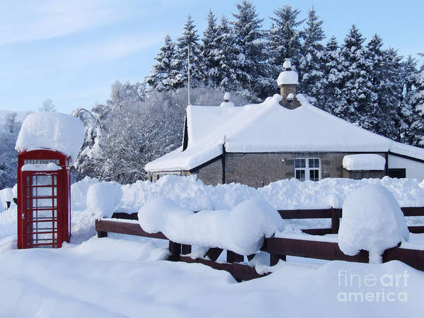 Photograph - Glenlivet Snowfall by Phil Banks
