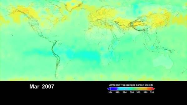 Wall Art - Photograph - Global Carbon Dioxide Levels by Nasa/science Photo Library