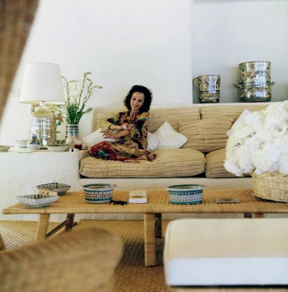 Gloria Photograph - Gloria Guinness At Home by Horst P. Horst