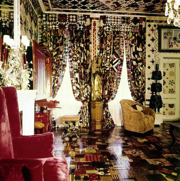 New York State Photograph - Gloria Vanderbilt's Bedroom by Horst P. Horst