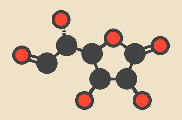 Glucuronolactone Molecule Art Print
