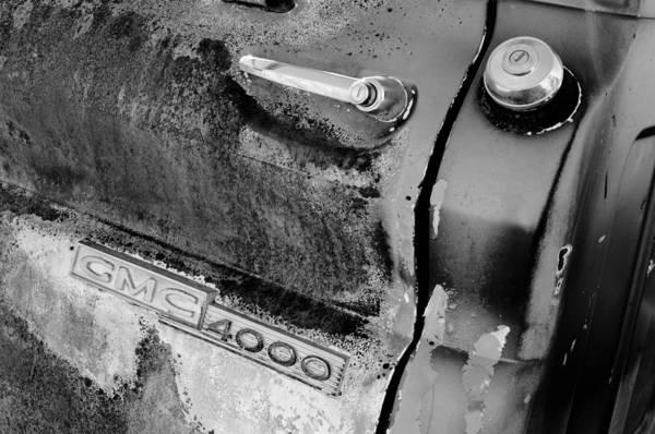 Photograph - Gmc 4000 V6 Pickup Truck Side Emblem - Door Handle by Jill Reger