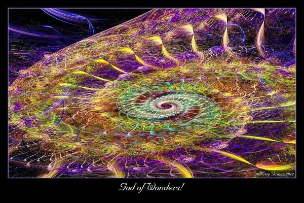 Digital Art - God Of Wonders by Missy Gainer