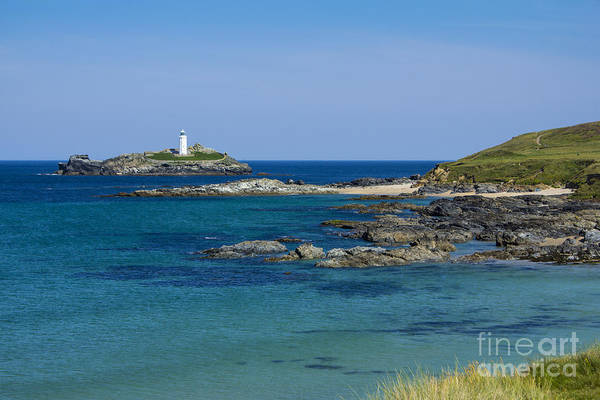 Photograph - Photographs Of Cornwall Godrevy Lighthouse by Brian Roscorla