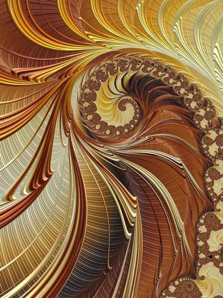 Digital Art - Gold Leaf by Amanda Moore
