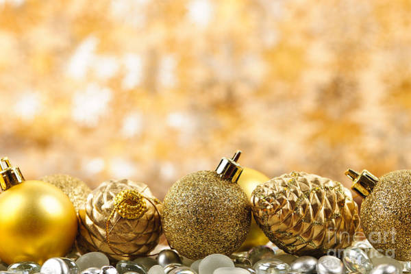 Photograph - Golden Christmas  by Elena Elisseeva