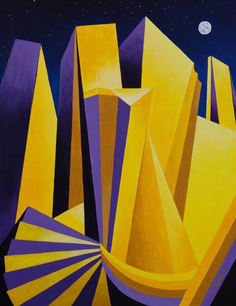 Painting - Golden City 2 by Cheryl Fecht