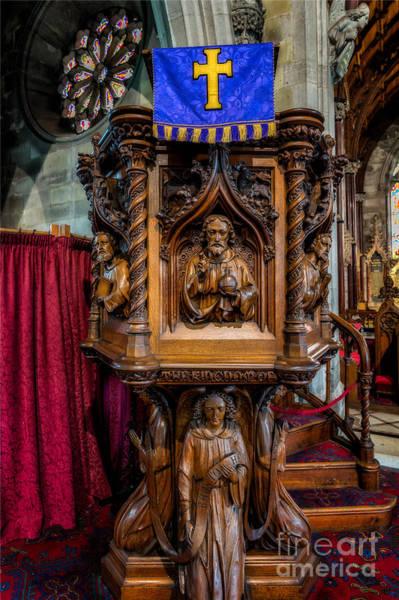 Wooden Church Wall Art - Photograph - Golden Cross by Adrian Evans