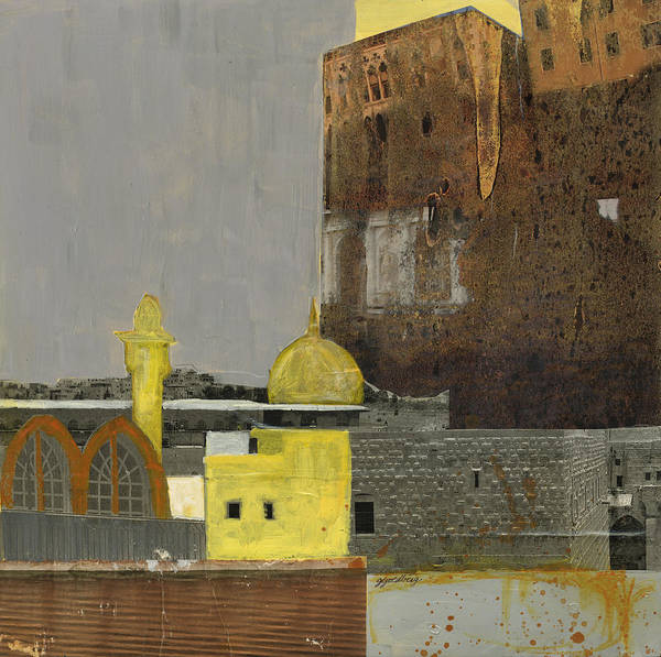 Mixed Media - Golden Dome by Jillian Goldberg
