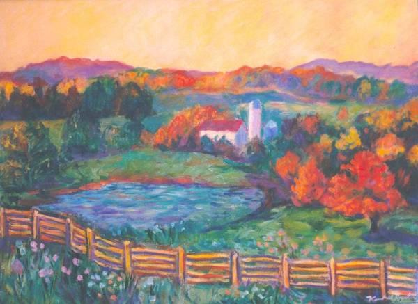 Painting - Golden Farm Scene by Kendall Kessler