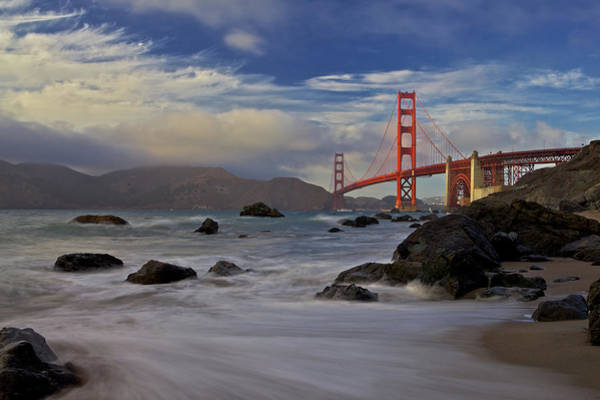 Iron Photograph - Golden Gate Bridge by Evgeny Vasenev