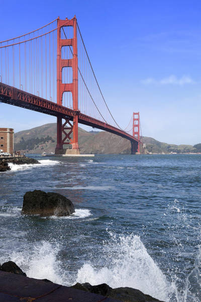 King Harbor Photograph - Golden Gate Bridge by King Wu